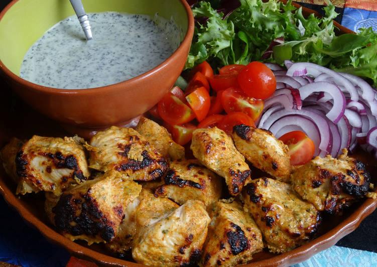 Recipe of Favorite Tandoori Chicken with Mint Yoghurt Dip