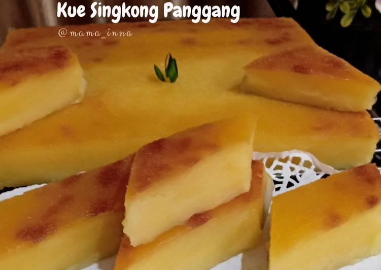 Kue Singkong Panggang (Bingka Singkong Panggang)