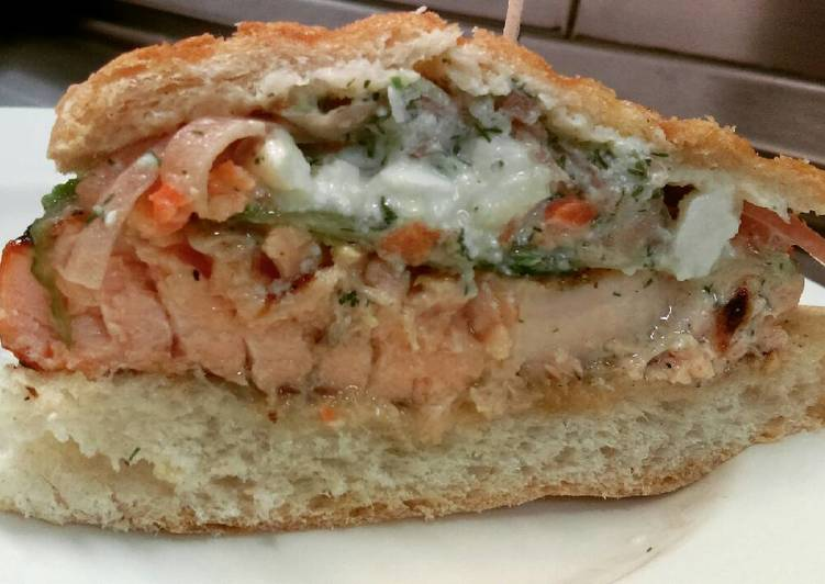 Foods That Make You Happy Greek Salmon Panini