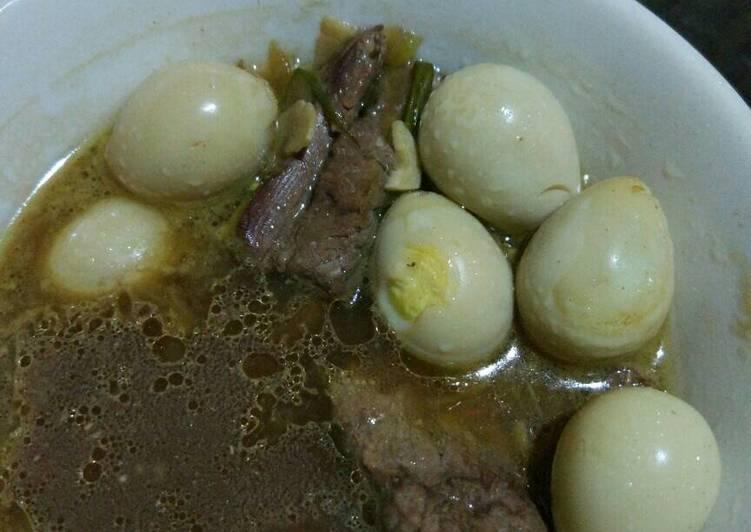 Semur daging telur puyuh bumbu teriyaki