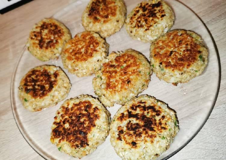 Comment Cuisiner Croquettes de flocons d'avoines aux cacahuètes