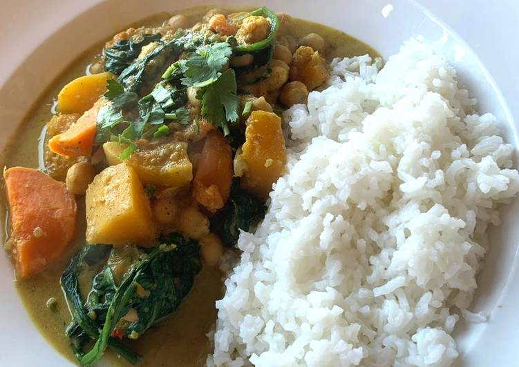 Recipe of Super Quick Homemade Butternut squash, sweet potato & Chickpea curry