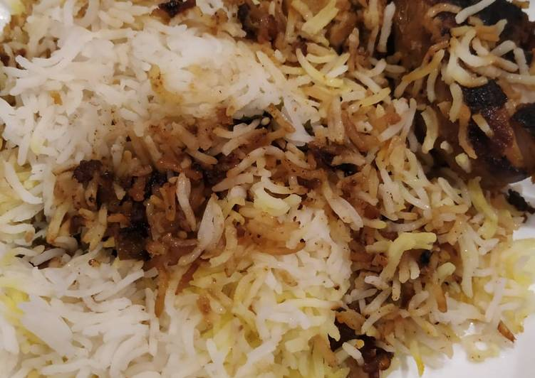 Hyderabadi dum chicken biryani