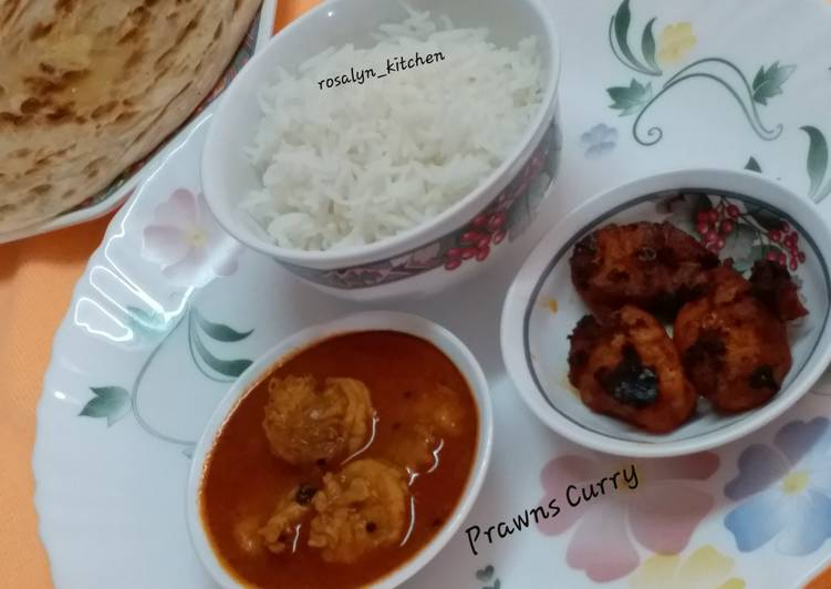 Prawns Curry Finding Healthful Fast Food