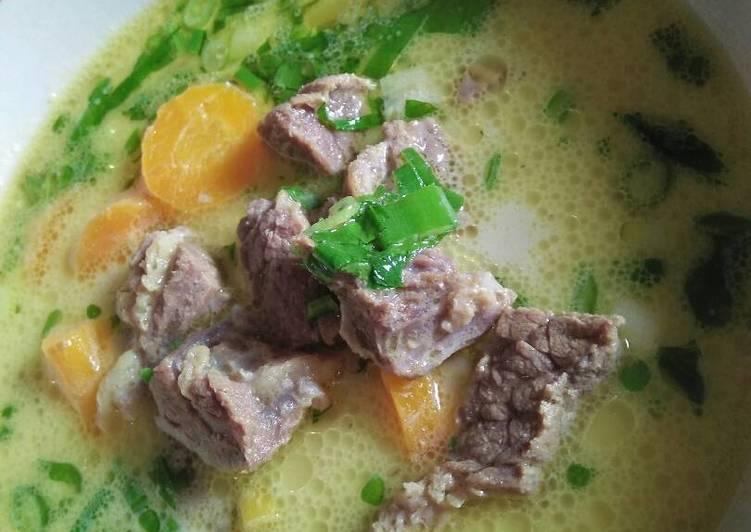 Soto simple daging wortel