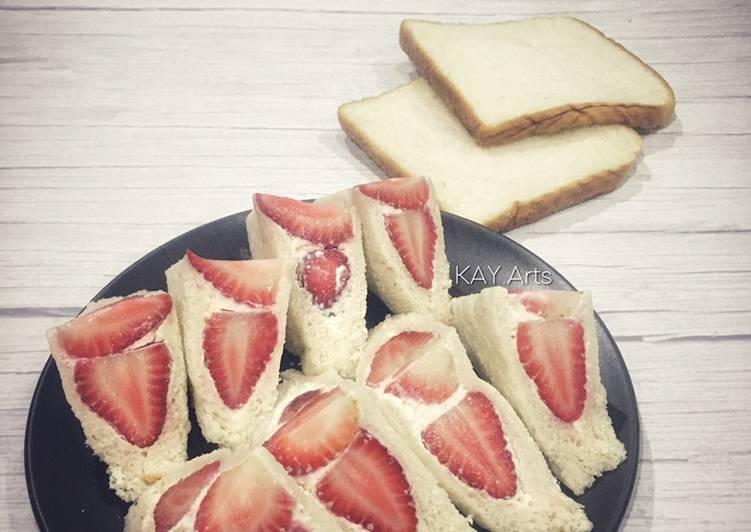 Resepi:  Sandwic Strawberi (Ichigo-Sando)  Terbaru
