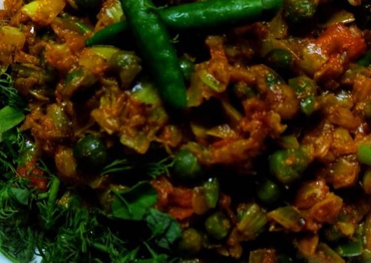 Recipe of Super Quick Homemade Cabbage peas