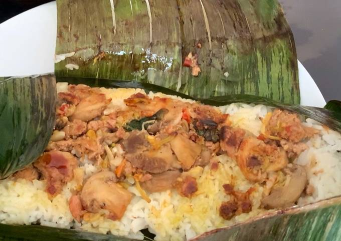 Spicy grilled rice indonesian style (Nasi Bakar)
