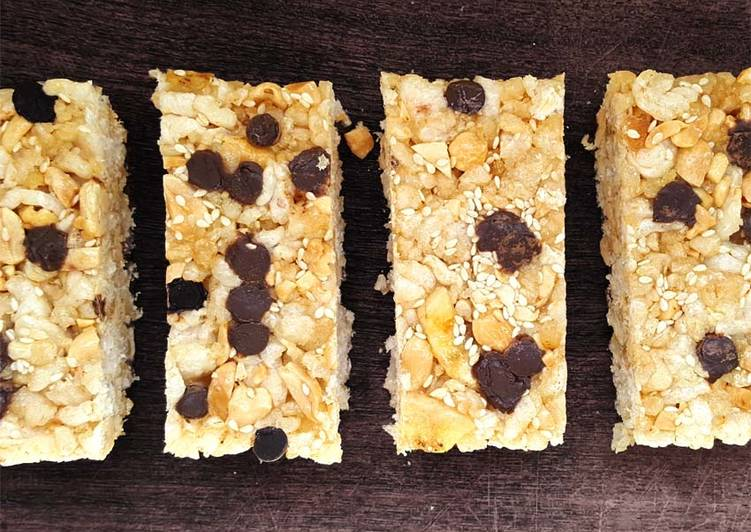 Barritas De Cereal Utilizando Tostadas De Arroz Fácil