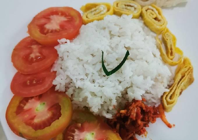 Nasi lemak rice cooker ala anak kost