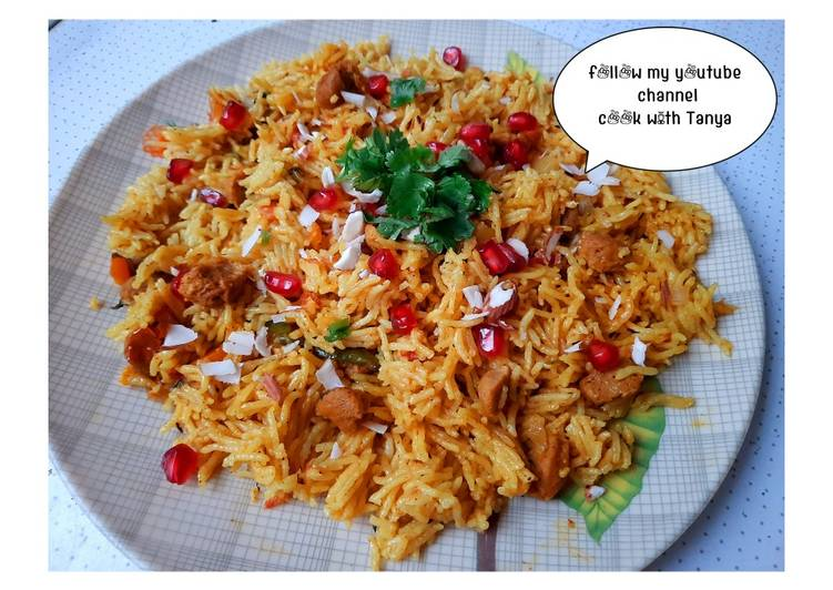 Recipe of Speedy Masala veg. pulao recipe 😋 (in hindi)