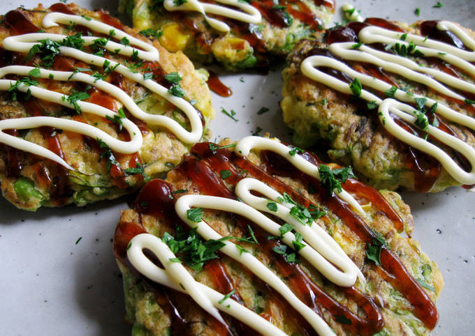 Cabbage Outer Leaves & Seafood Okonomiyaki