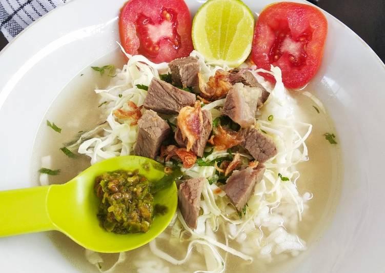 Soto Daging Sapi (Kuah Bening)