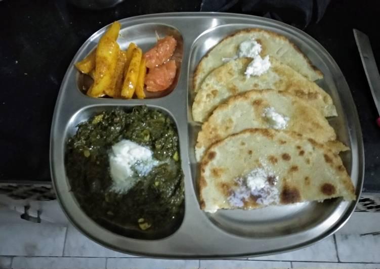 Makki ki Roti with Sarson ka Saag and chatpata mooli galgal achar - Laurie G Edwards