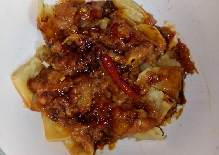 Resep Batagor pangsit ayam tanpa tapioka, Bikin Ngiler