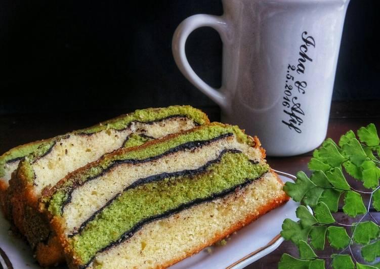 Topo Map Love Cake (Green Tea Butter Cake)