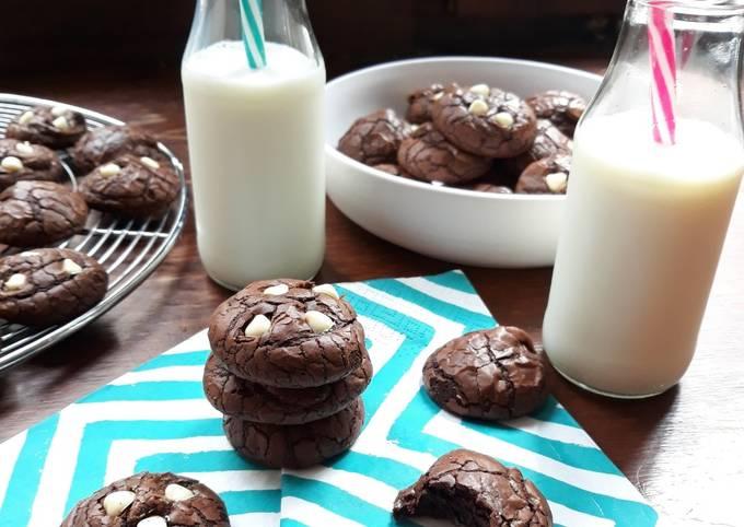 ☆Cookies Brownies aux Pépites de Chocolat Blanc☆