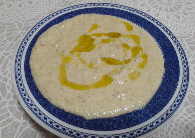 Hummus de trigo sarraceno vegano