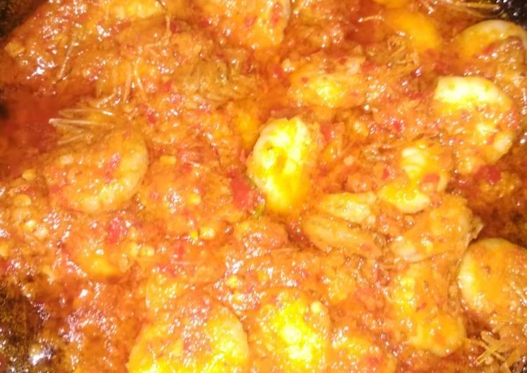 Udang sambal merecon