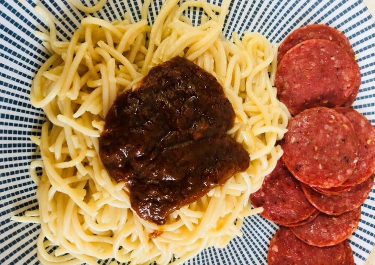 How to Make Perfect Noodles with peppersauce and salami