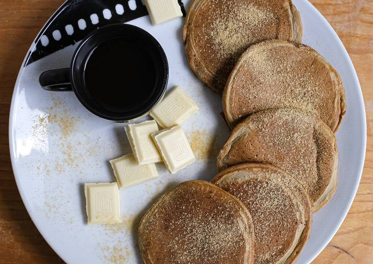 Pancakes vegani caffè e zenzero