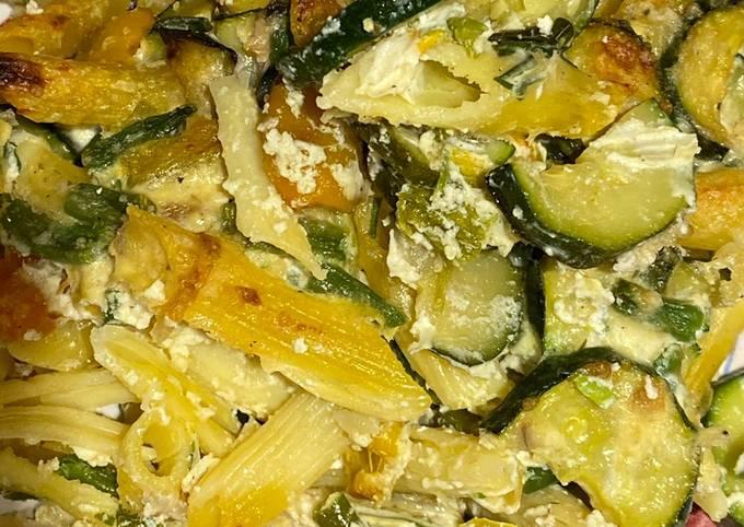 Pasticcio di pasta gluten free con verdure