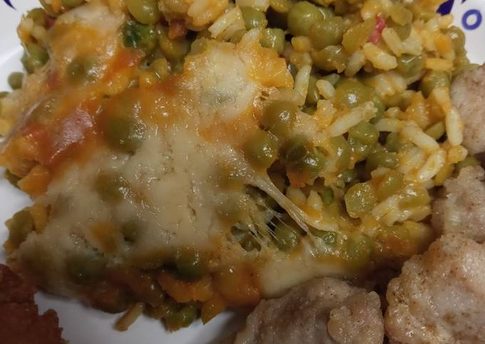 Yellow Rice and Lentils with Chicken