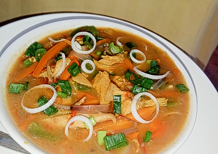 Recipe of Homemade Chicken curry soup