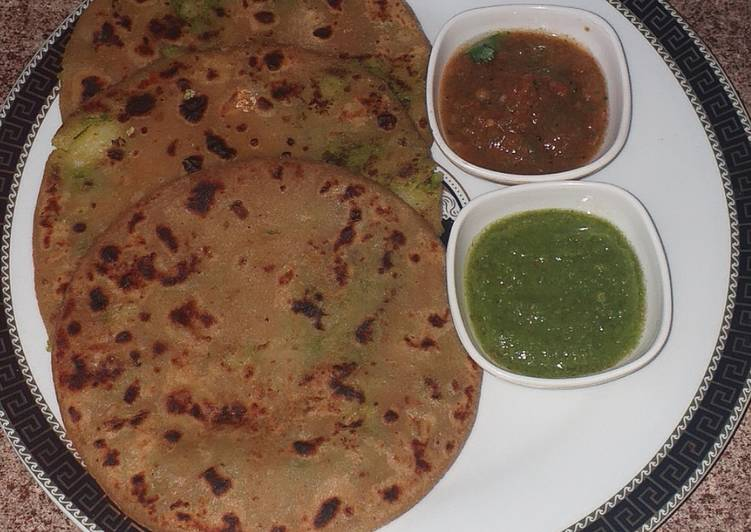 Easiest Way to Prepare Super Quick Homemade Hare matar k parathe