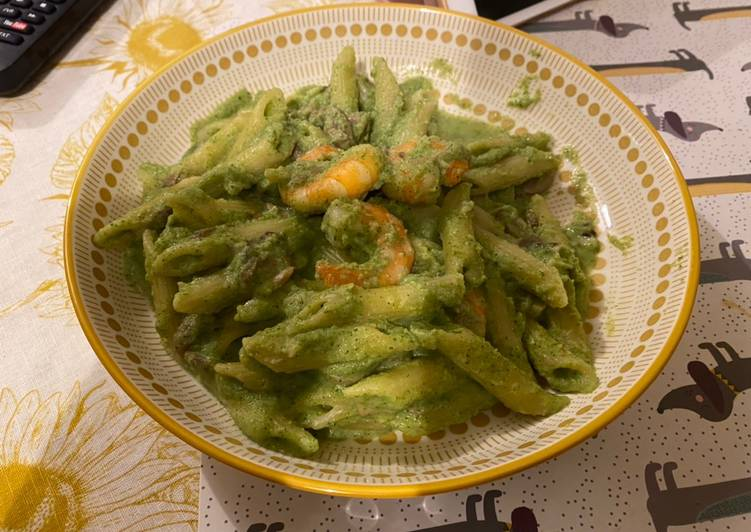 Recipe: Yummy Broccoli Creamy Shrimp Pasta