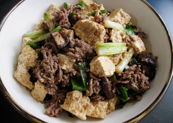 Beef Mince & Tofu in Sukiyaki Sauce