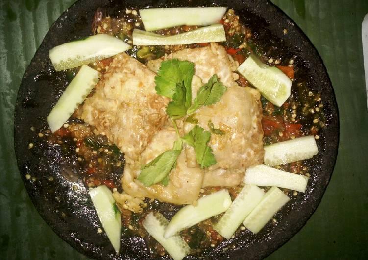 Tempe tepung sambal hijau