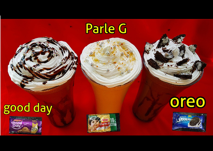 How to Prepare Yummy Biscuit Milk shakes 3 types