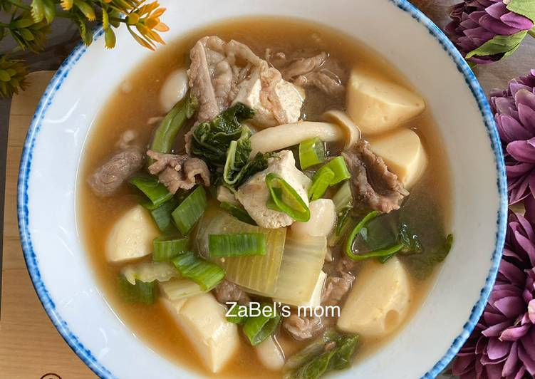 Resep Doenjang Jigae Korean Soybean Paste Soup Oleh Hennie Zabel S Mom Cookpad