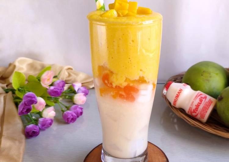 Milky Mango Yakult with Jelly Nata de Coco