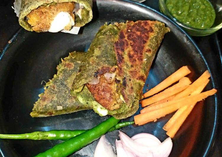 Recipe of Favorite Spinach Wrap With Chickpea Stuffing