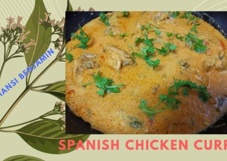 Spanish chicken curry