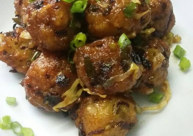 Poha dry manchurian - Laurie G Edwards