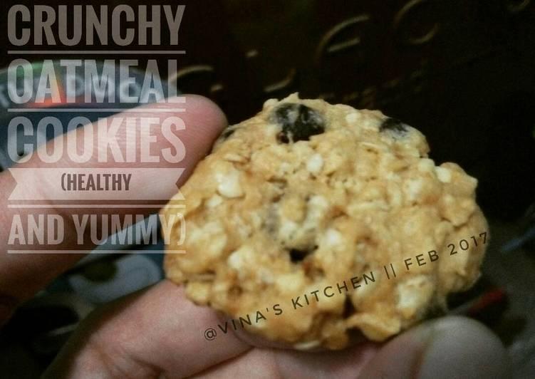 Crunchy oatmeal cookies (healthy & yummy)