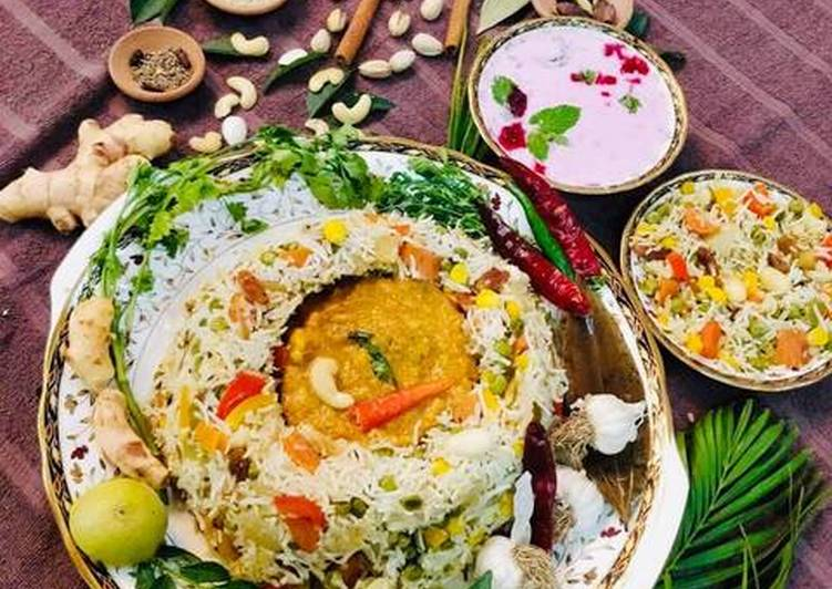 Easiest Way to Make Perfect Nav Ratan Pulao with Coconut Curry