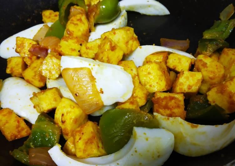 Kadai egg paneer