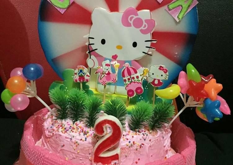 Birthday cake (hemat, mudah, simple) bisa di kukus / panggang - cookandrecipe.com