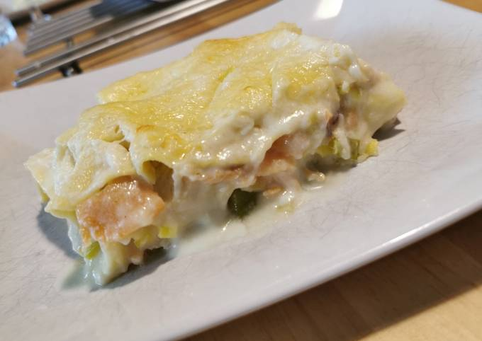Lasagnes saumon poireaux 🍽️