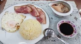 Hình ảnh món Cơm Trứng Hấp Ăn Kèm Giò Heo Muối Xông Khói & Canh Xương Ống Heo