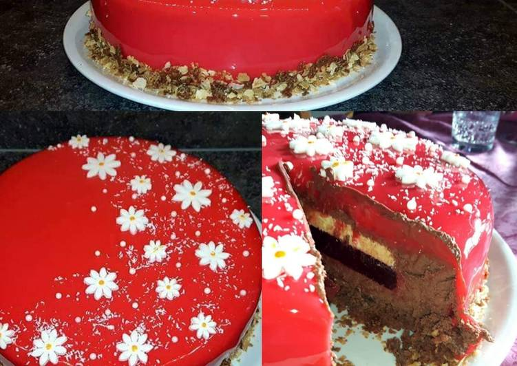 Recipes  Entremet chocolat insert framboise et vanille
