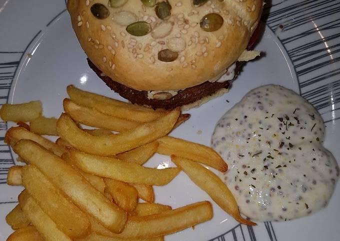 Hamburger maison / sauce light