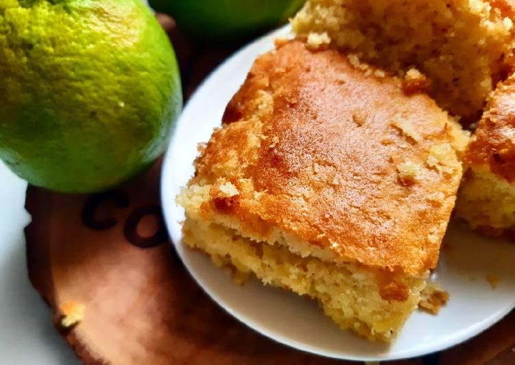 Lemony sponge squares