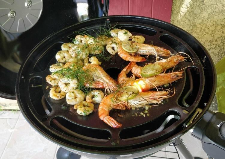 Comment Servir Gambas et crevettes marinées
