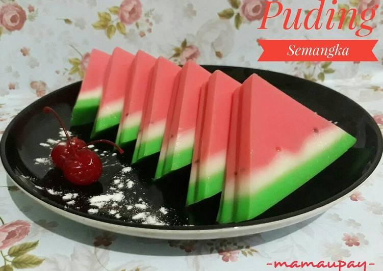 Puding Semangka sederhana
