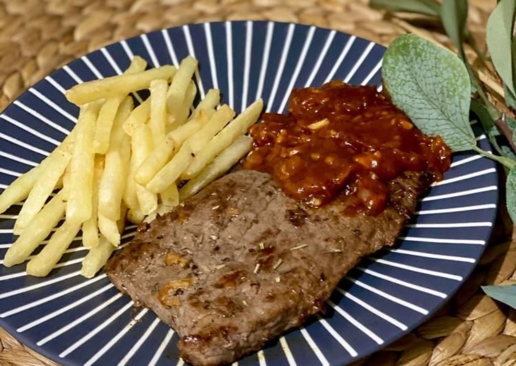 beef steak bbq home made foto resep utama